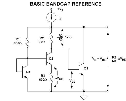 Negative Voltage Reference Bandgap Voltage Reference